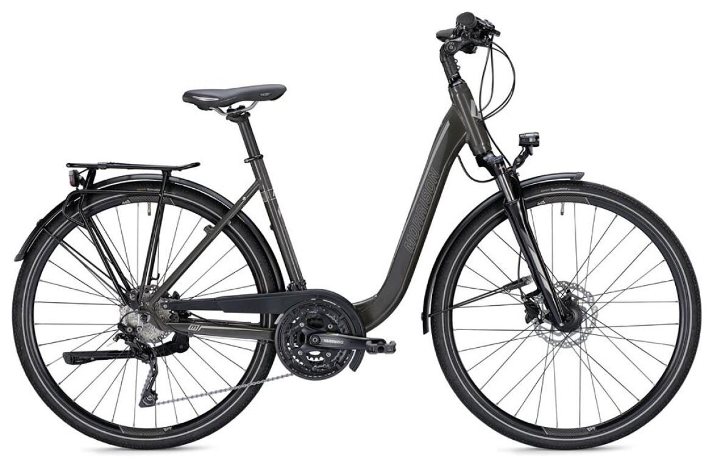 Morrison T 5.0, Trekkingbike mit 30-Gang Shimano Kettenschaltung, Suntour Federgabel, 35LUX Scheinwerfer, Wa