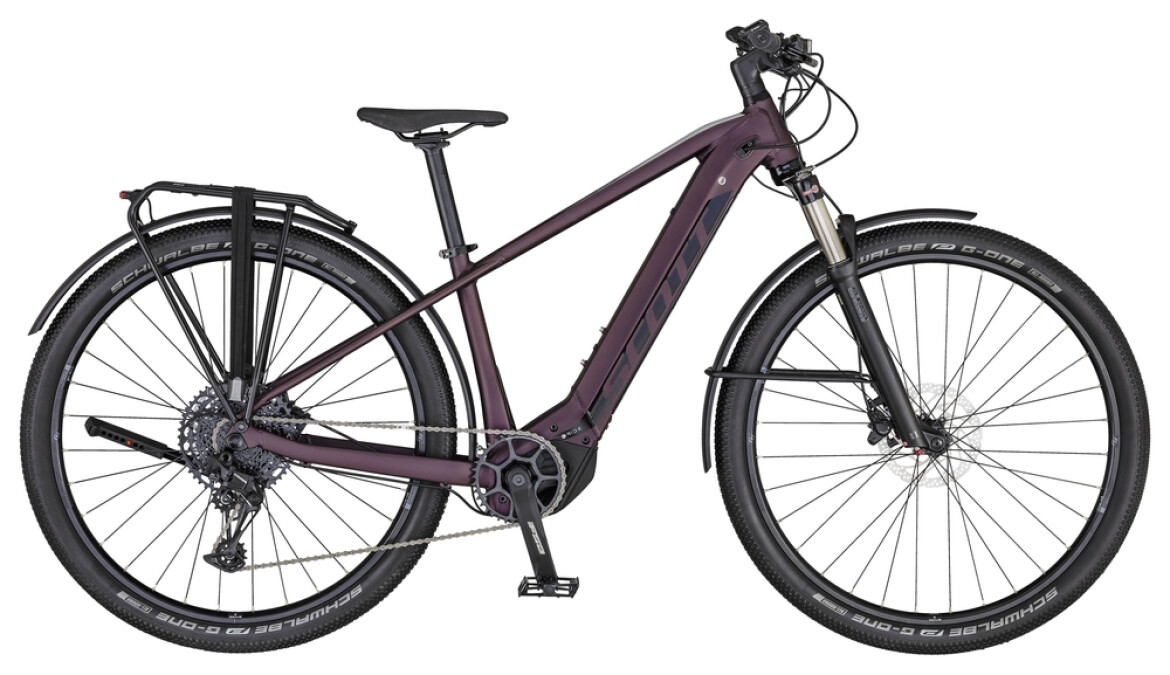 Scott Axis eRide 20 Lady purple, black and silver 2020