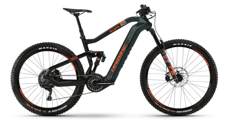 Haibike XDURO AllMtn 8.0 i630Wh oliv-carbon-orange matt 2021