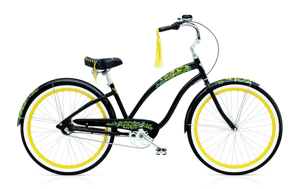 Electra Bicycle Flora & Fauna 3i black ladies