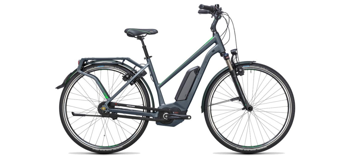 Cube Travel Hybrid Pro 400 Trapez Grey`n`Flashgreen 2017