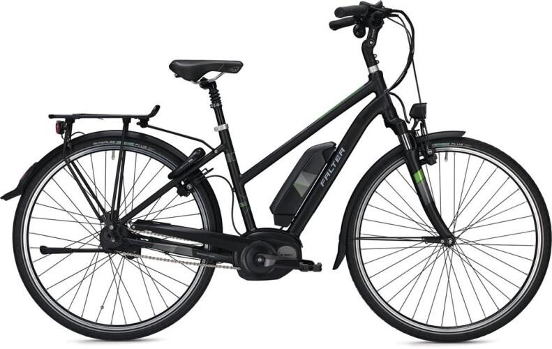 FALTER E-Bike E 9.8 FL Trapez schwarz matt 2017