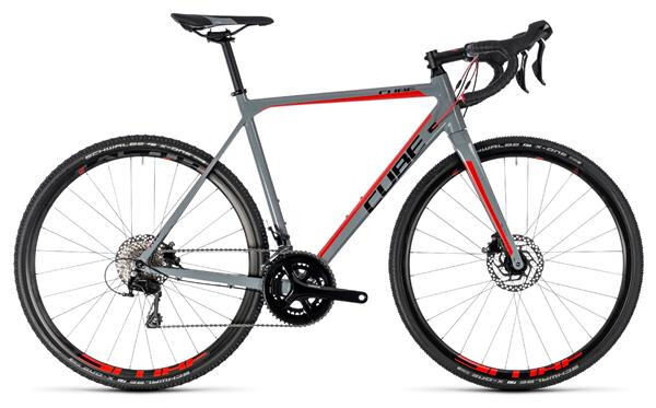 CUBE - Cross Race Pro grey´n´red