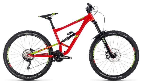 CUBE - Hanzz 190 Race 27.5 red´n´lime