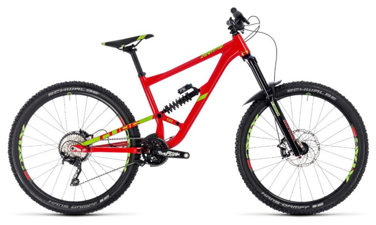 CUBEHanzz 190 Race 27.5 red´n´lime