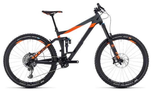 CUBE - Stereo 160 C:62 TM 27.5 carbon´n´orange