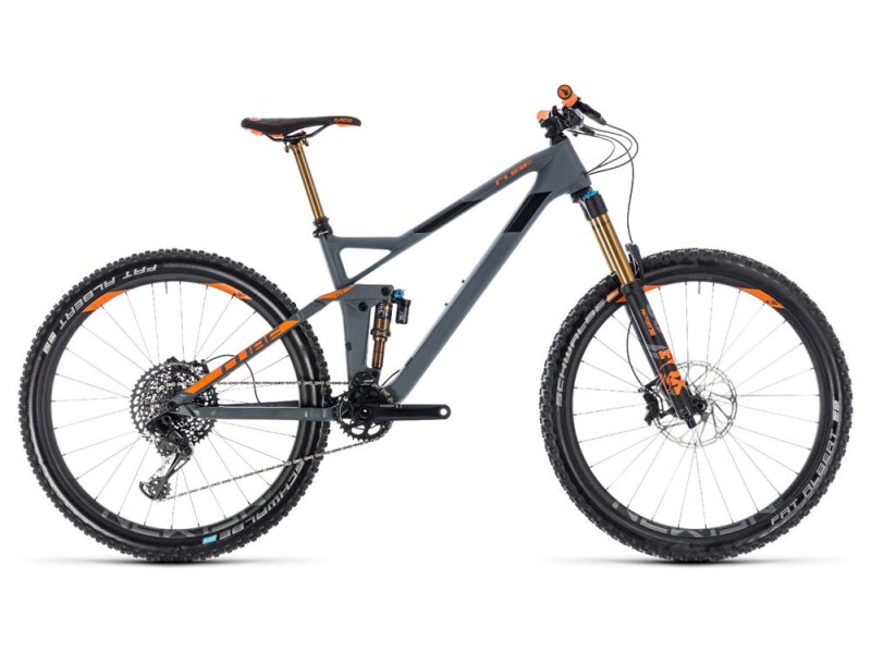 Cube Stereo 140 HPC TM 27.5 grey´n´orange