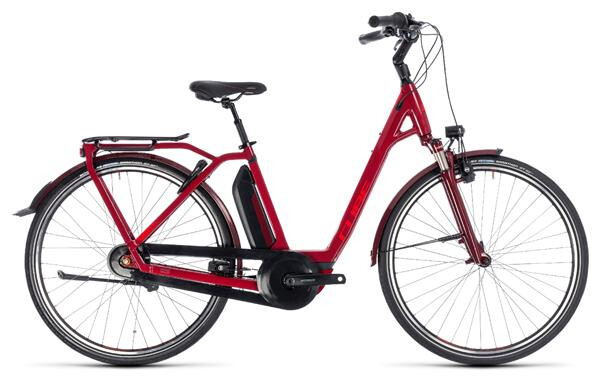 CUBE - Town Hybrid Pro 500 darkred´n´red
