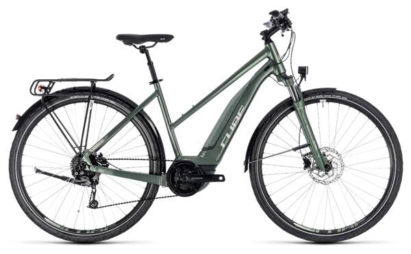 CUBE - Touring Hybrid ONE 400 frostgreen´n´silver