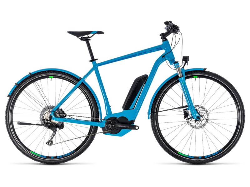 Cube Cross Hybrid Race Allroad 500 blue´n´green