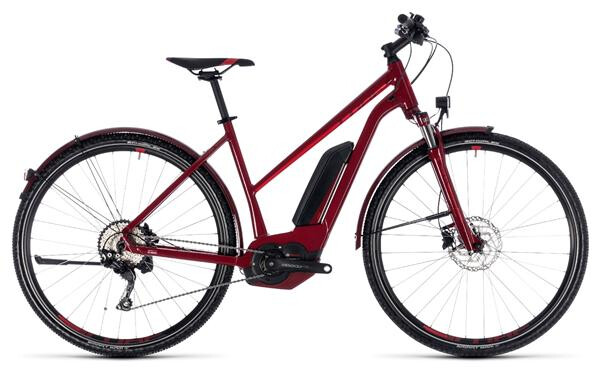 CUBE - Cross Hybrid Pro Allroad 500 darkred´n´red