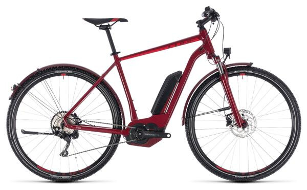 CUBE - Cross Hybrid Pro Allroad 400 darkred´n´red