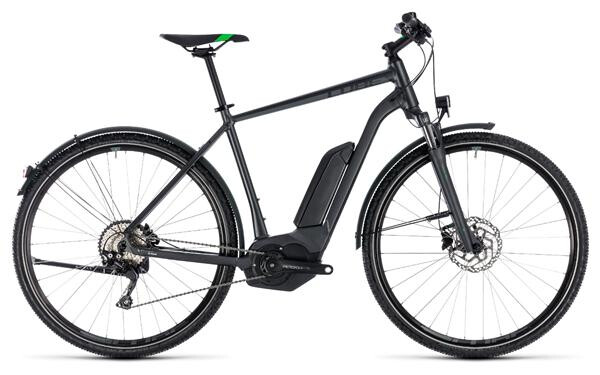 CUBE - Cross Hybrid Pro Allroad 500 grey´n´flashgreen