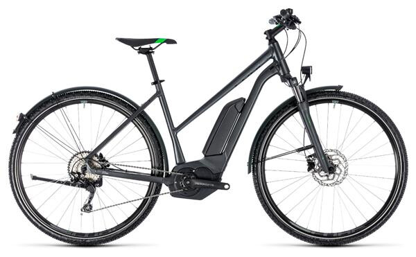 CUBE - Cross Hybrid Pro Allroad 400 grey´n´flashgreen