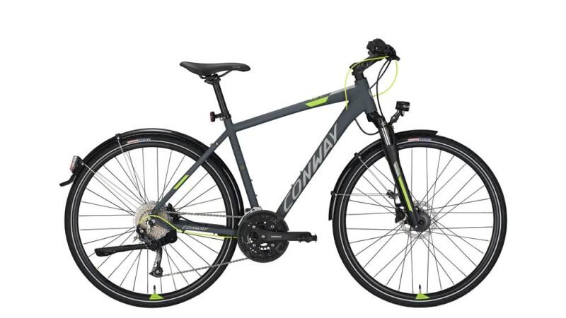 Conway CC 401 grey matt/lime -55 cm Trekkingbike