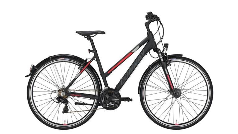 CONWAYCC 300 Trapez black matt/red -52 cm