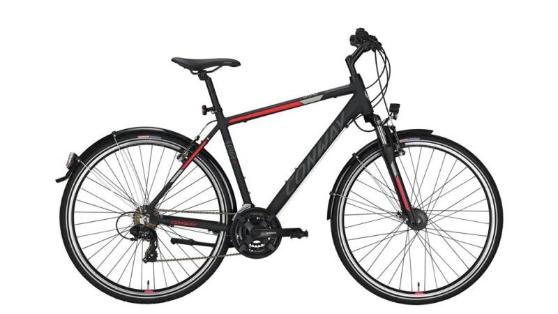 Conway CC 300 black matt/red -56 cm Trekkingbike