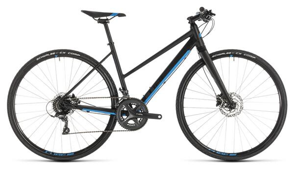 CUBE - SL Road black´n´blue Trapez