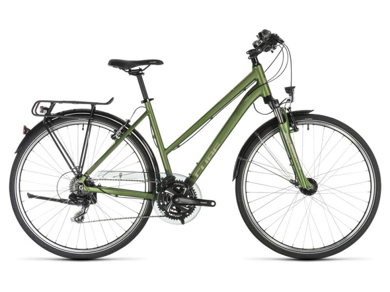 Cube Touring green´n´silver Trapez
