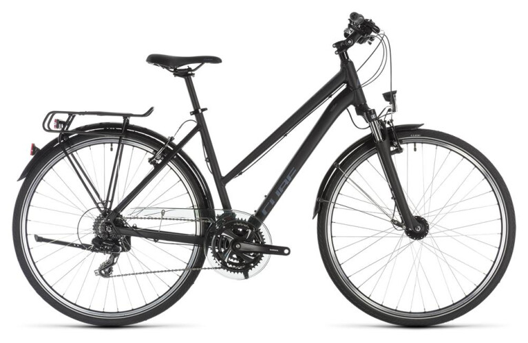 CUBE Touring black´n´blue Trapez