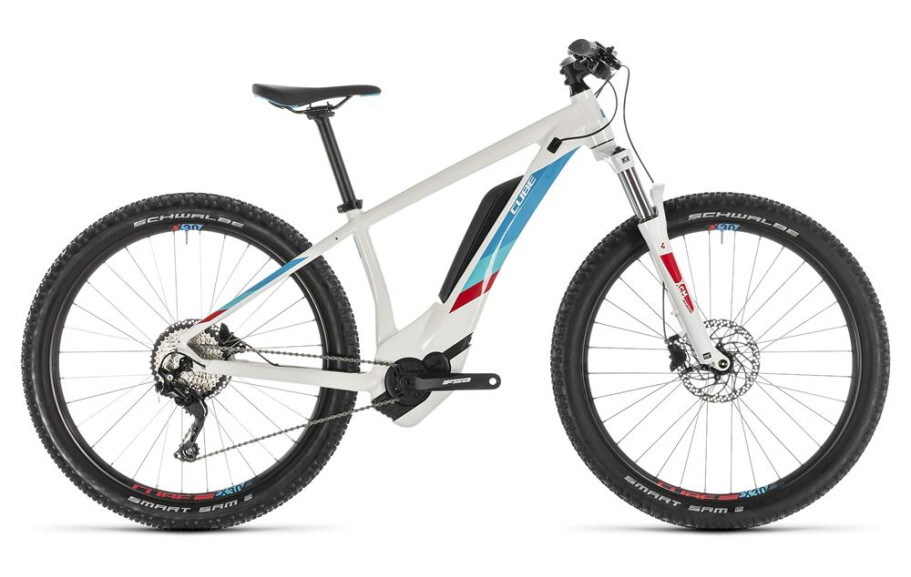 Cube Access Hybrid Pro white´n´blue 2019
