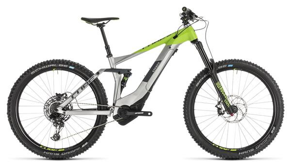 CUBE - Stereo Hybrid 160 Race 500 27.5 grey´n´green