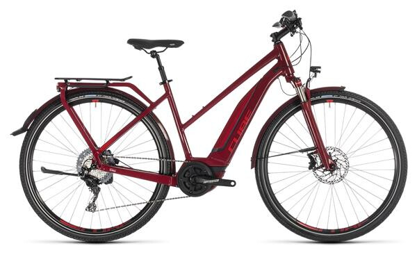 CUBE - Touring Hybrid EXC 500 darkred´n´red Trapez