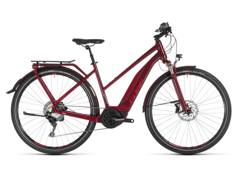 Cube Touring Hybrid EXC 500 darkred´n´red Trapez