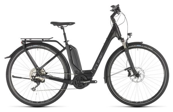 CUBE - Touring Hybrid EXC 500 black´n´grey Easy Entry