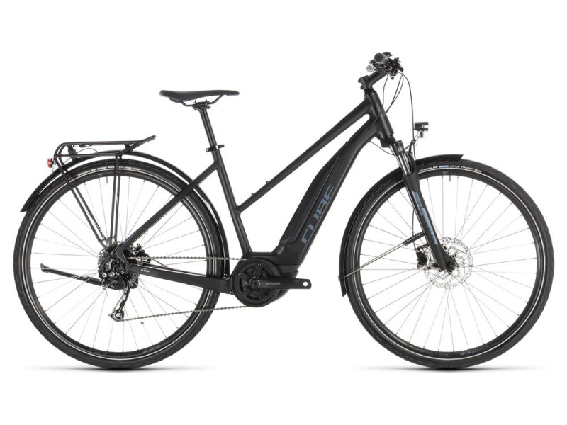Cube Touring Hybrid ONE 500 black´n´blue Trapez