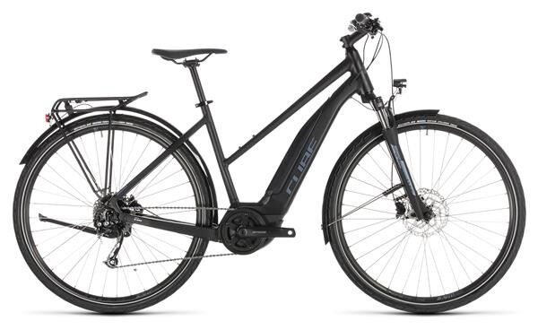 CUBE - Touring Hybrid ONE 400 black´n´blue Trapez