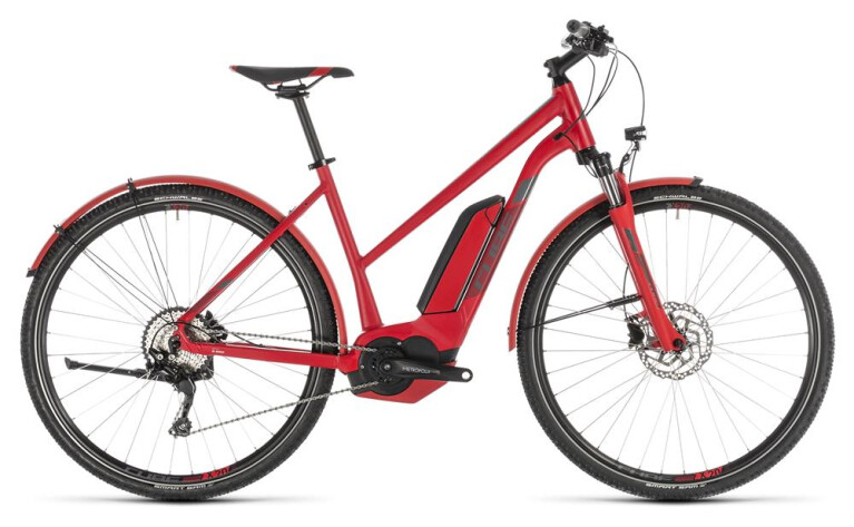 CUBE Cross Hybrid Pro 500 Allroad red´n´grey Trapez