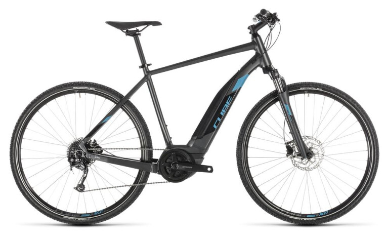 CUBE Cross Hybrid ONE 500 iridium´n´blue