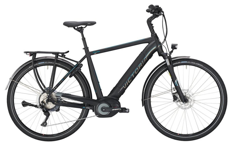 Victoria eTrekking 12.8 Herren black matt/blue E-Bike