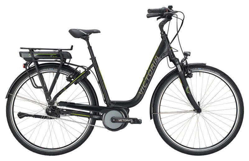 Victoria eTrekking 5.10 SE Deep black matt/limegreen E-Bike
