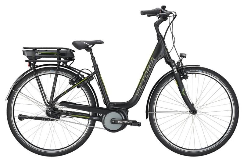 Victoria eTrekking 5.9 SE Deep black matt/limegreen E-Bike