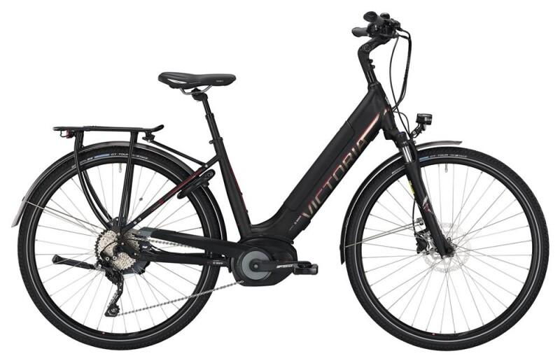 Victoria eTrekking 12.8 Wave black matt/red E-Bike