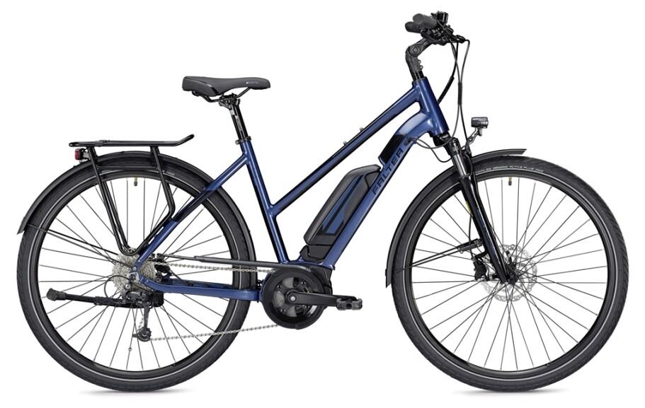 Falter E 9.0 RD, Trapez 55, 400Wh, blau/schwarz glänzend