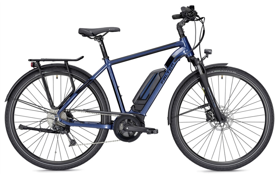 Falter E 9.0 RT, Herren 55, 400Wh, blau/schwarz glänzend