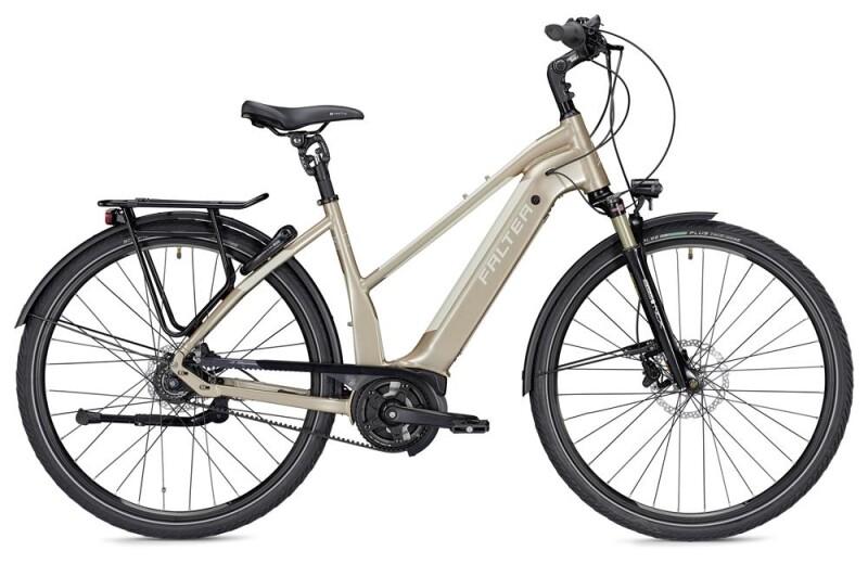 FALTER E 9.9 RT Trapez champagner/weiß E-Bike