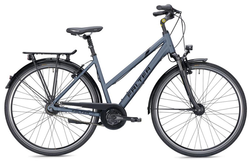 Falter C 5.0 Trapez blau/schwarz Matt Citybike