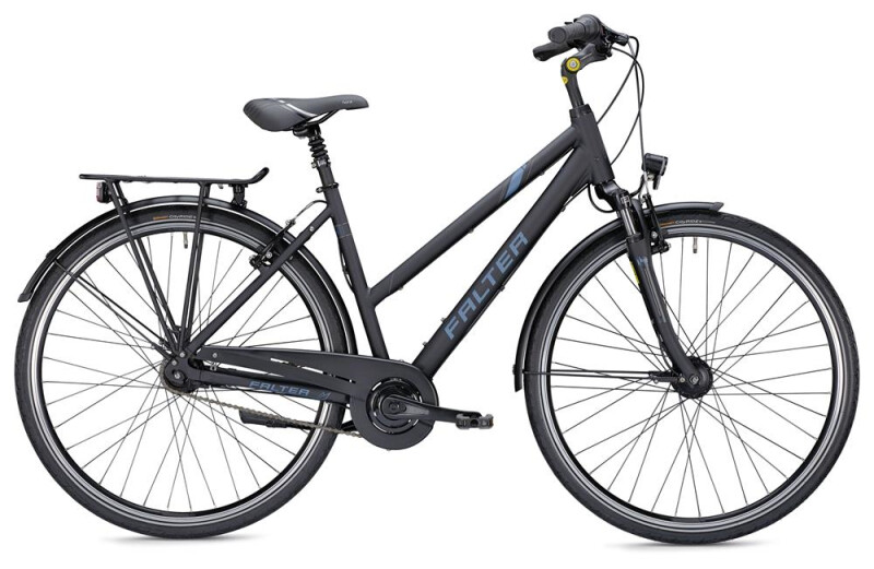 Falter C 4.0 Trapez schwarz/blau Citybike