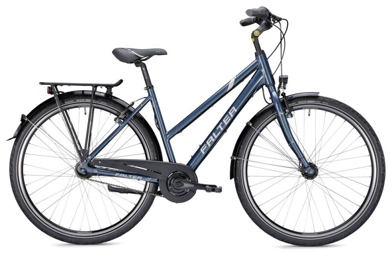 Falter C 3.0 Trapez blau/silber Citybike
