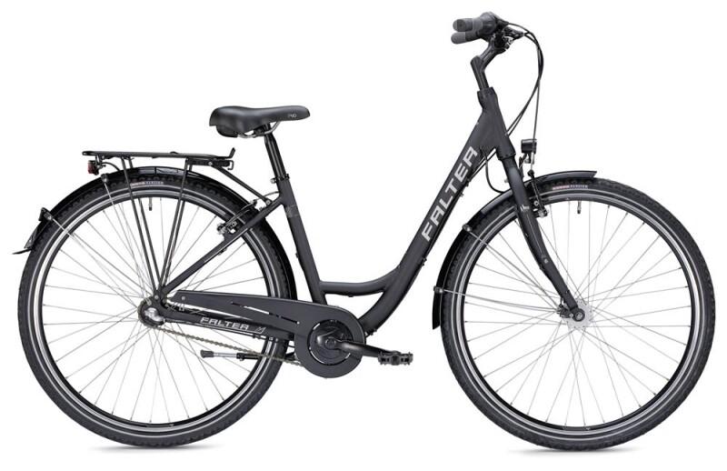 Falter C 2.0 Wave schwarz/silber matt Citybike
