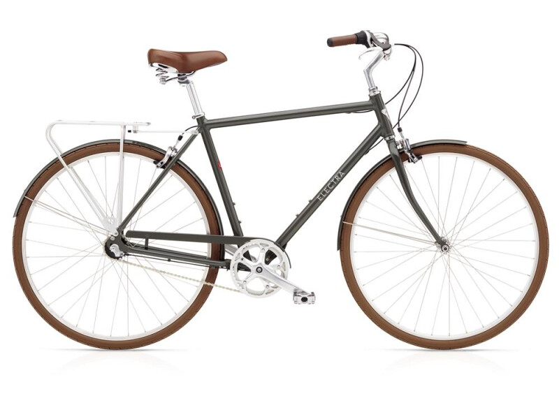 Electra Bicycle Loft 3i Men's Army Grey