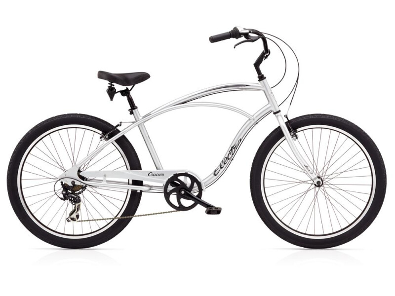Electra Bicycle Cruiser Lux 7D Men's Silver