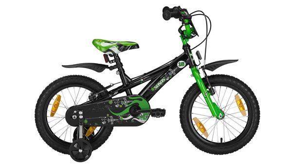 """NOXON - BMX 16"""" black/green BMX 16"""""""