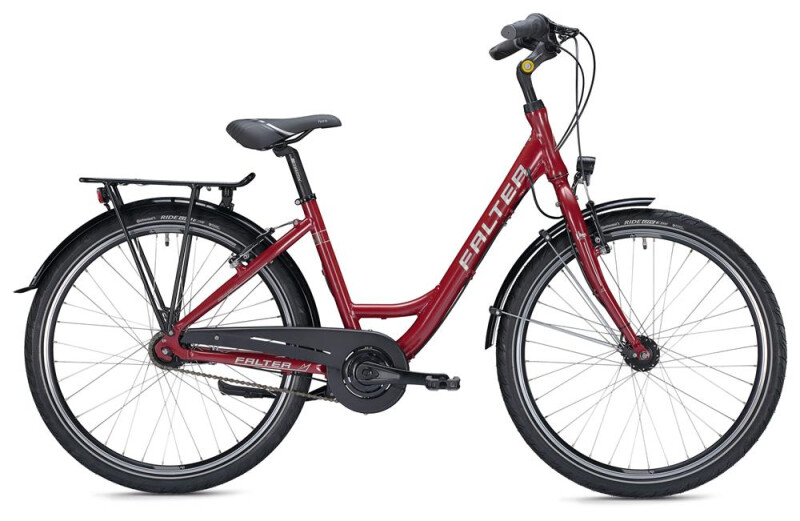 FALTER C 3.0 Wave/ red-white Citybike