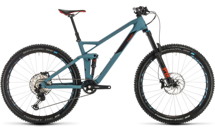 Cube Stereo 140 HPC Race 27.5 bluegrey´n´red