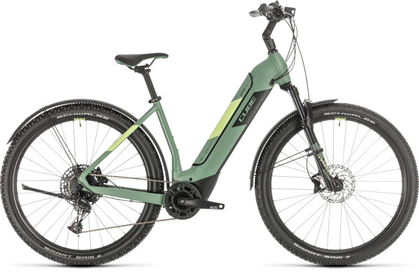CUBE - Nuride Hybrid EXC 500 Allroad green´n´sharpgreen